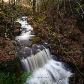 Jepsons Clough Waterfall in Rivington, UK