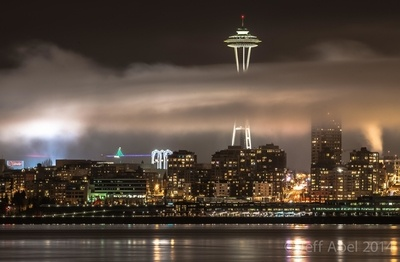 Seattle Space Needle in the Fog