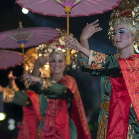 visiting Indonesia, they had a performing arts festival with various dance performances from different regions and islands