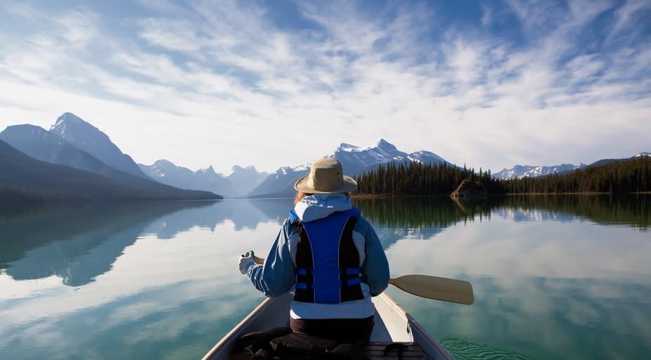 Taken in Jasper, Alberta  on Maligne Lake