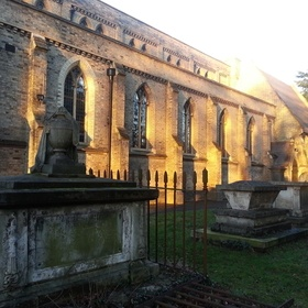 Afternoon sun on Church in England