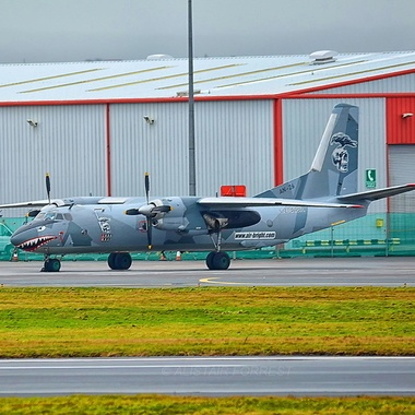 Antanov AN26  used in the Film The Expendables parked @ Glasgow Prestwick