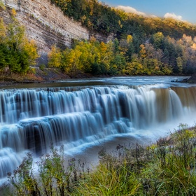 HDR shot of the lower falls in Letchworth State Park, NY