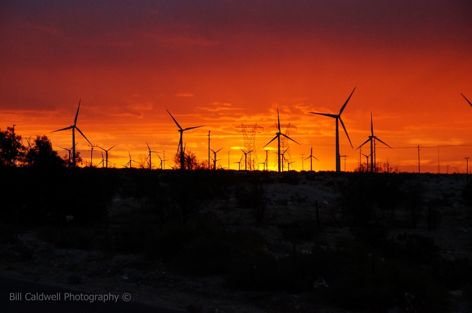 Heading to Palm Springs after a storm December 2012.  This is a Sunrise.