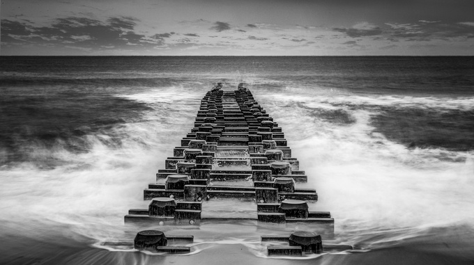 Pylons in Black and White by Bopbie - Tripod Required Photo Contest