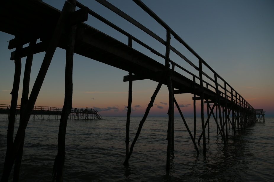 Icons of Lake Manitoba. These piers are easily recognized in the summer but are disassembled each...