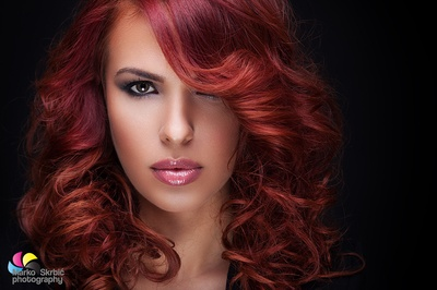 Glamorous red hair women