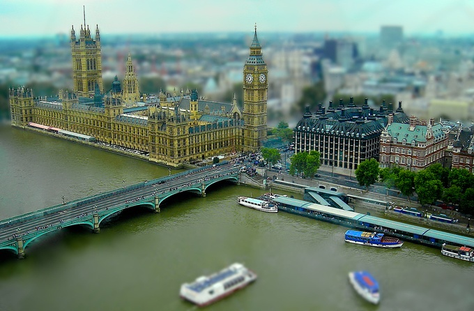 London from The Eye by chriscousins - TiltShift Effect Photo Contest