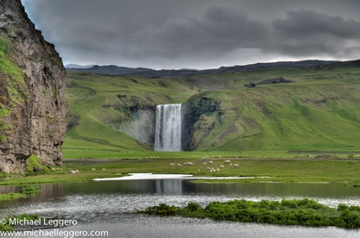 Behind The Lens With michaelleggero - The Beautiful Skogafoss Waterfall
