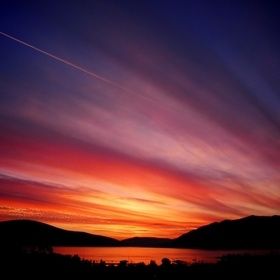 A magnificent sunset taken from my balcony in Tivat, Montenegro, few years ago.