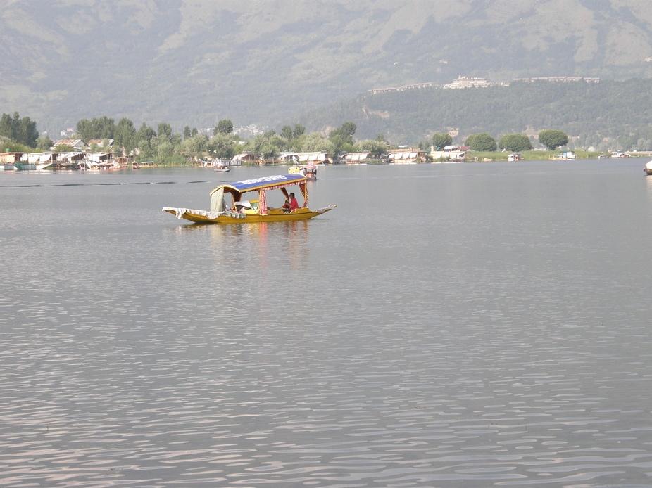 Shikara on Dal lake Kashmir