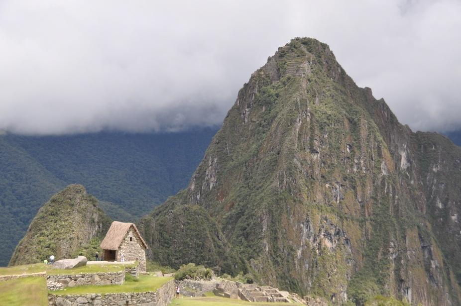 macchu picchu, hut next to mountain