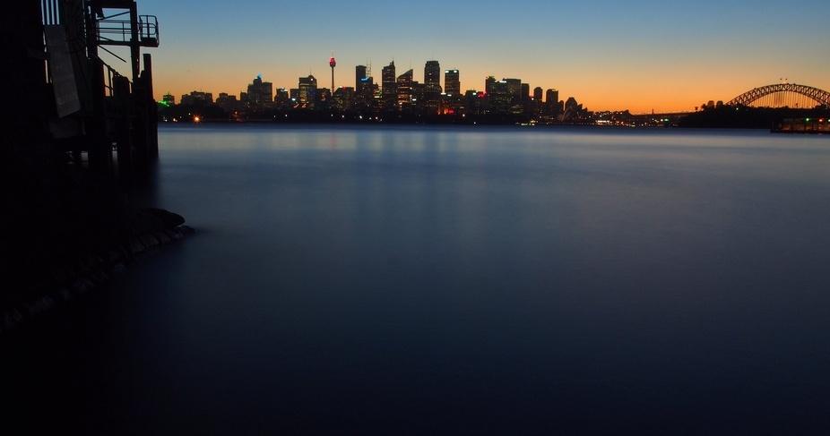 A beautiful evening in Sydney from Bradley\'s  head