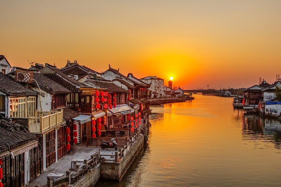shujiajiao-sunset