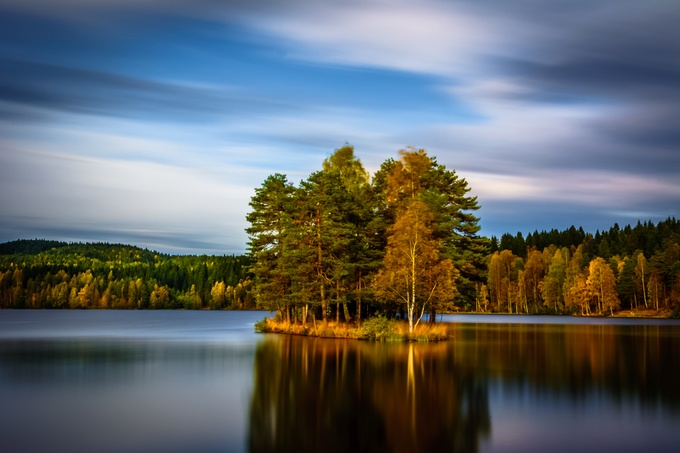 Sognsvann lake by kirakosyan - Cloud Painting Photo Contest