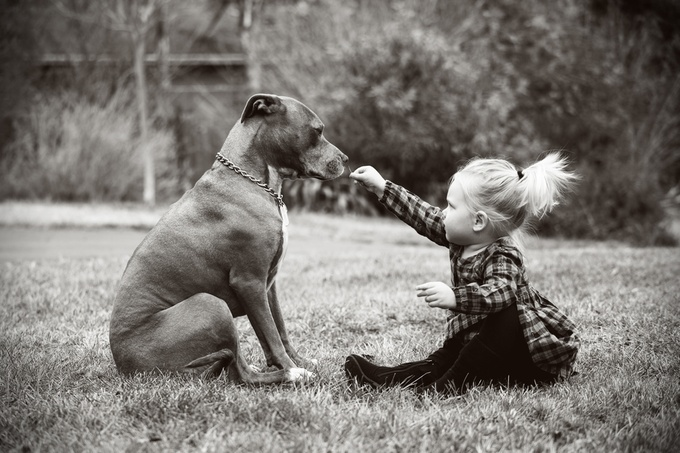 Just a girl and her dog... by Chrissywphoto - I Heart Animals Photo Contest