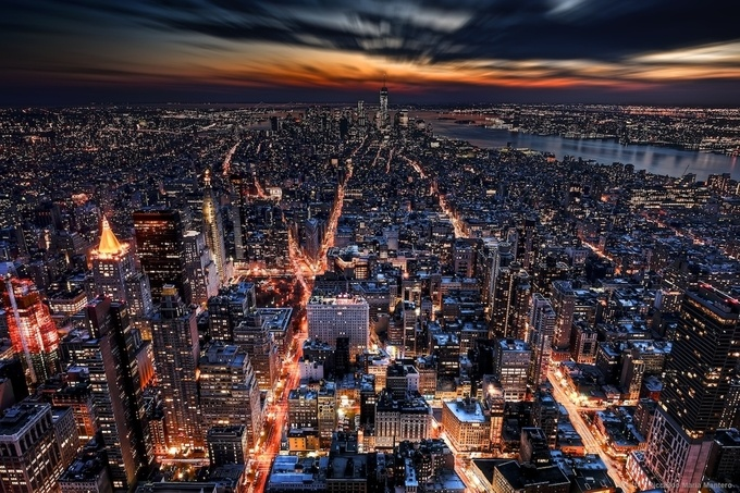 Light Arteries in the Blue Hour by RiccardoMantero - New York Photo Contest