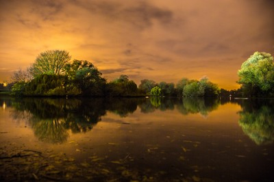 Verulam lake at night-2