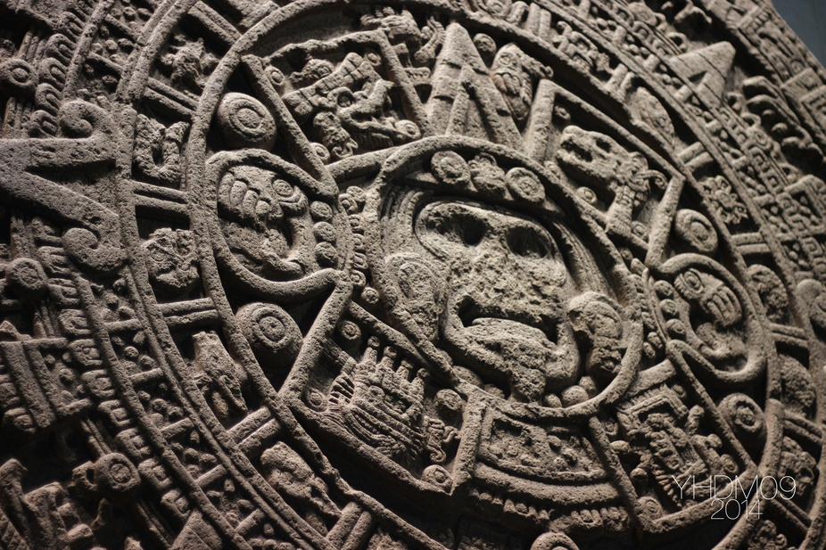 Aztec Symbol at National Anthropology Museum, Mexico City.