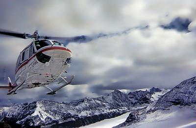 Heli-hiking the Canadian Rockies