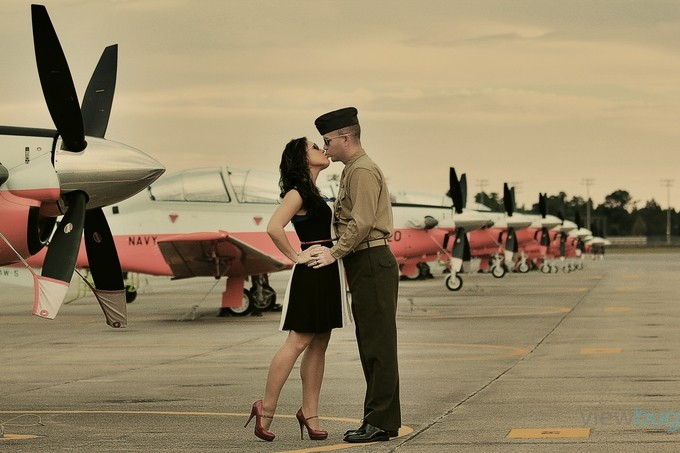 Flight Line Romance by shezashootingstar - Love Is In The Air Photo Contest