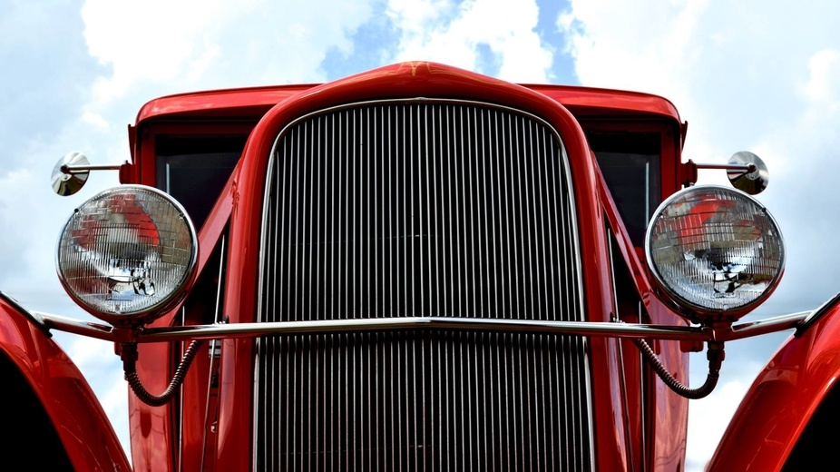 Front end of a 1932 Ford street rod. Taken at the 2012 American Legion car show in Millsboro, DE.