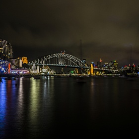 This was taken at lavender bay sydney. You have the view of luna park and the harbour bridge