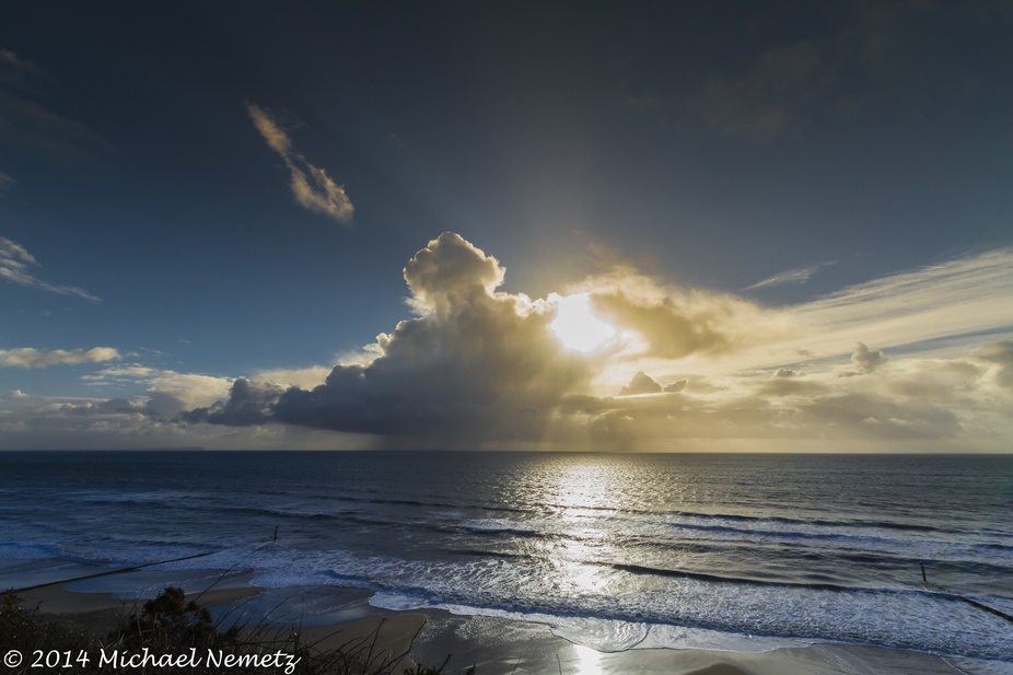 A storm passes the southcoast of England at Bournemouth beach.