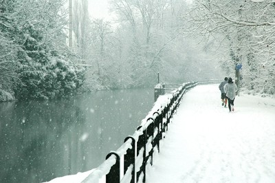 Inzago, Italy,  under the snow