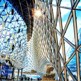 My Zeil mall in Frankfurt, Germany. There are no corners in the entire building. Fantastic architecture!