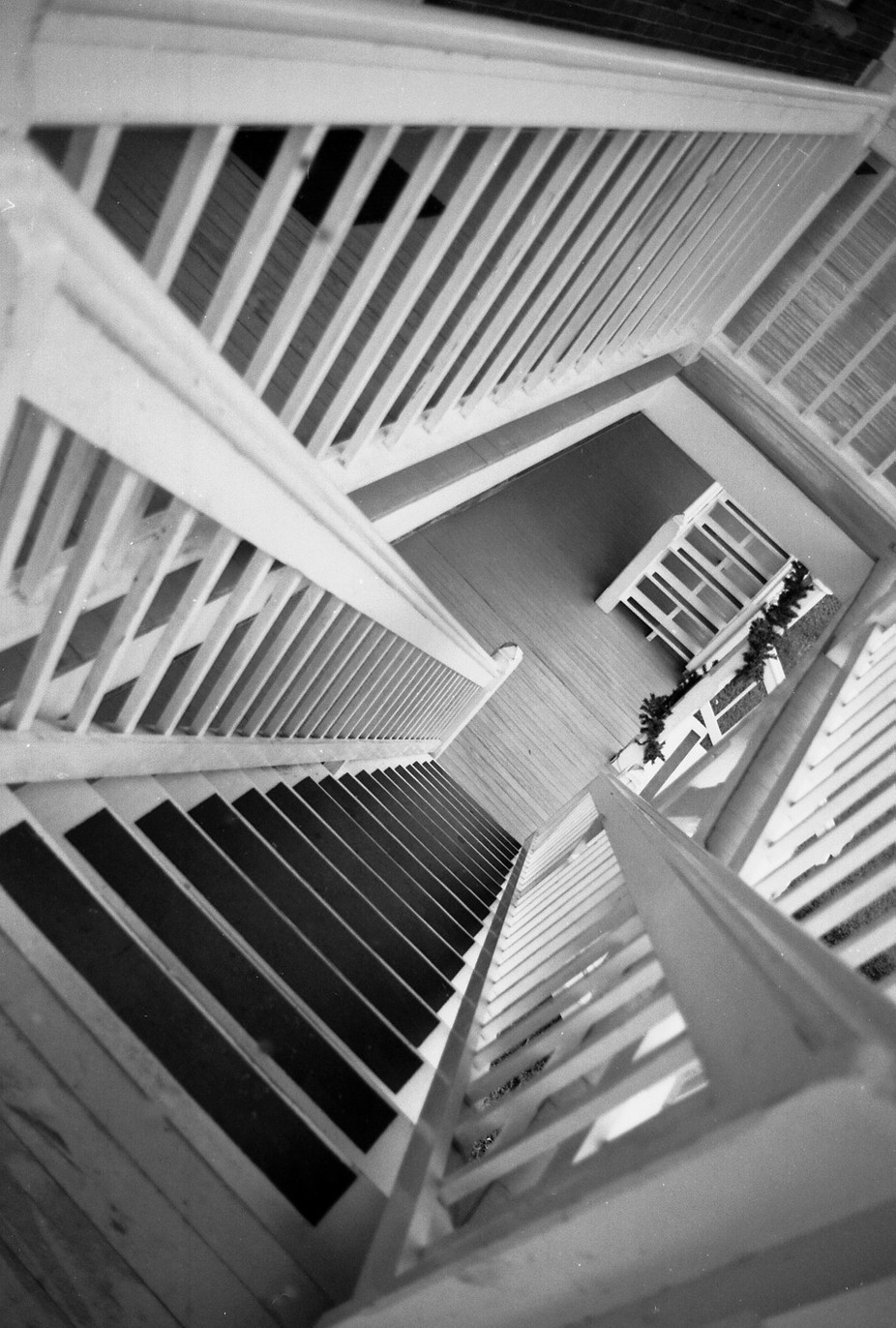 St Augustine Lighthouse stairs, for full effect, make sure when you hang it, it's point up and point down on the frame.