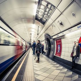 Tube, Bank Station. London, England