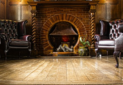 Victorian fire place Bantock House