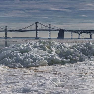 Frozen - Chesapeake Bay Bridge