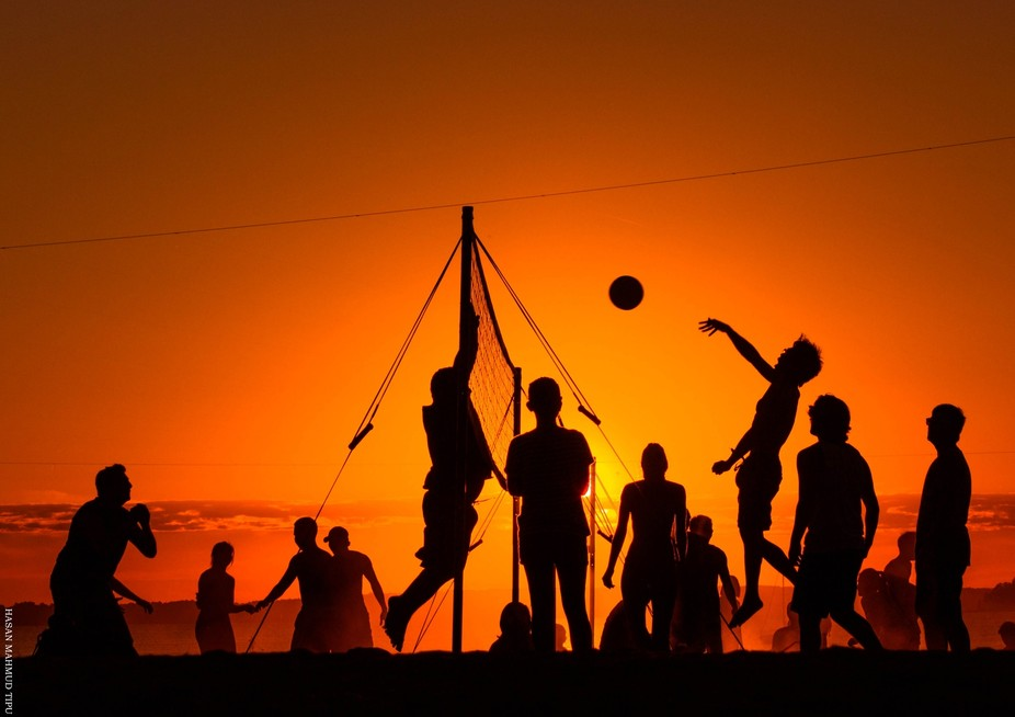 Beach Volleyball at sunset!