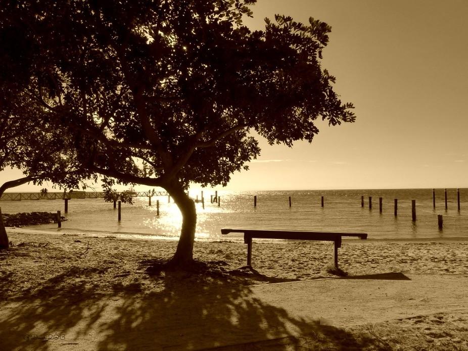 Sunset at Amity Beach, Stradbroke Island, Australia
