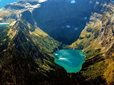 Hidden glacier lakes