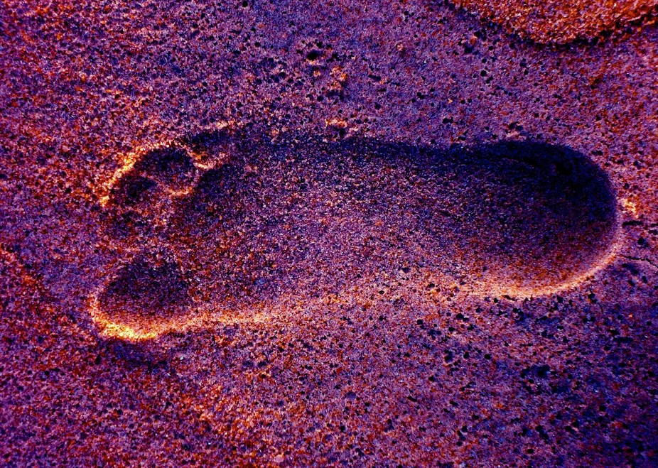 My foot print...