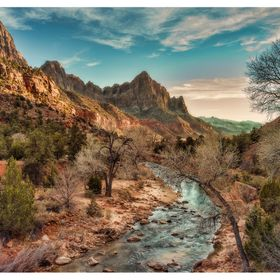 Almost Sunset over the Virgin River, my original Colour image i took with my Leica M9