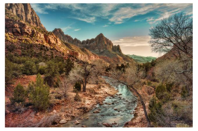 Virgin River Sunset by Hawksview - National Parks Photo Contest