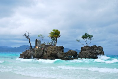 Small island off Boracay, Philippines