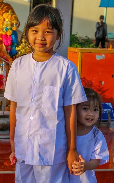 Cute Thai Kids at Temple