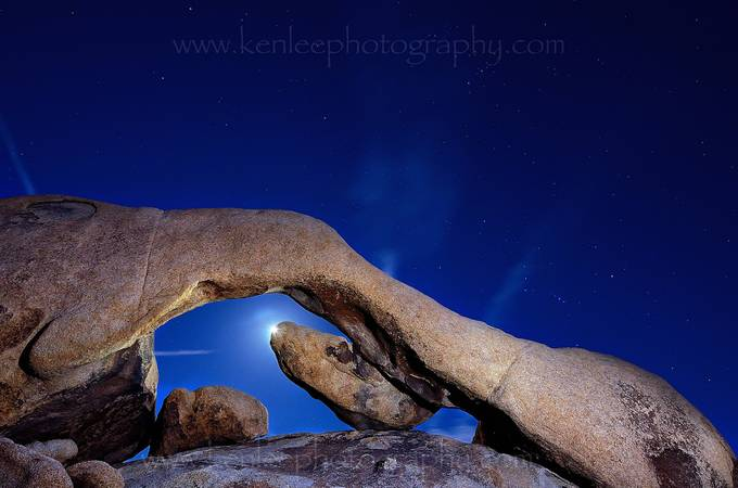 Arch Rock Desert Moon by kenleephotography - Moonlight Photo Contest