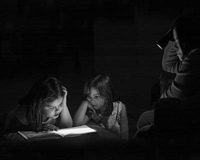 Reading Up a Storm B&W