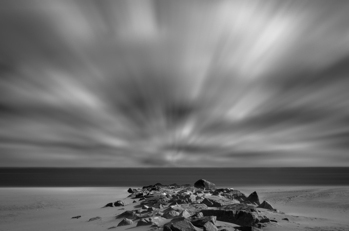 Windy Beach by PI_Photography - The Moving Clouds Photo Contest
