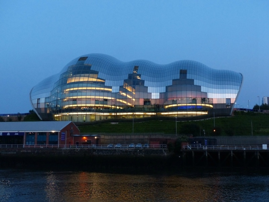 The Gateshead Sage taken from the waterside.