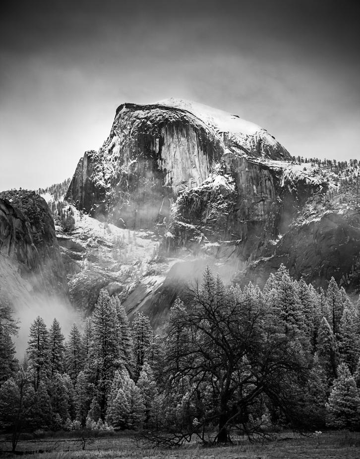 Half Dome after a Winter Storm by terraphile - Snowcap Photo Contest