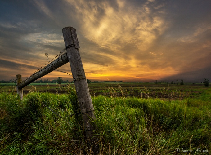 Country Sunrise by aaronjgroen - Rails and Fences Photo Contest