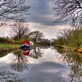 Beautiful reflections on the canal