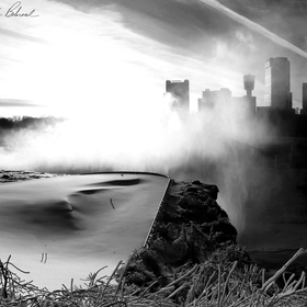 A very surreal, Black & White High Contrast Capture of Niagara Falls from Goat Island. I took this just after the Blizzard of 2014 in Western New...